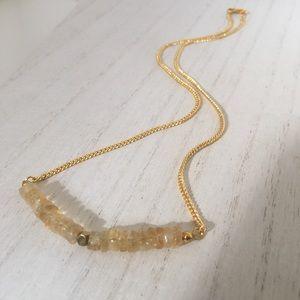 Citrine gemstone November Birthstone Gift Necklace